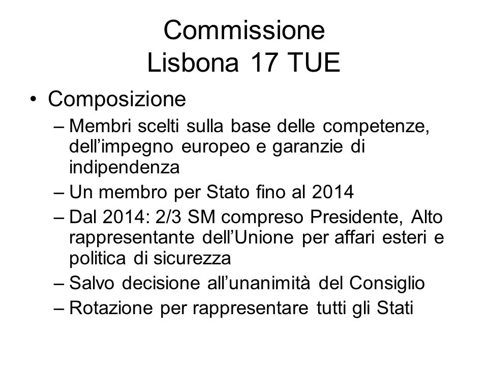 Commissione Lisbona 17 TUE