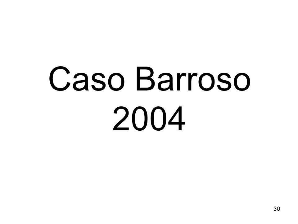 Caso Barroso 2004