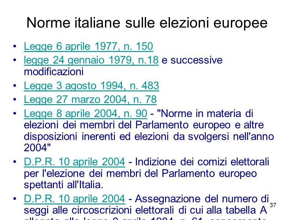 Norme italiane sulle elezioni europee