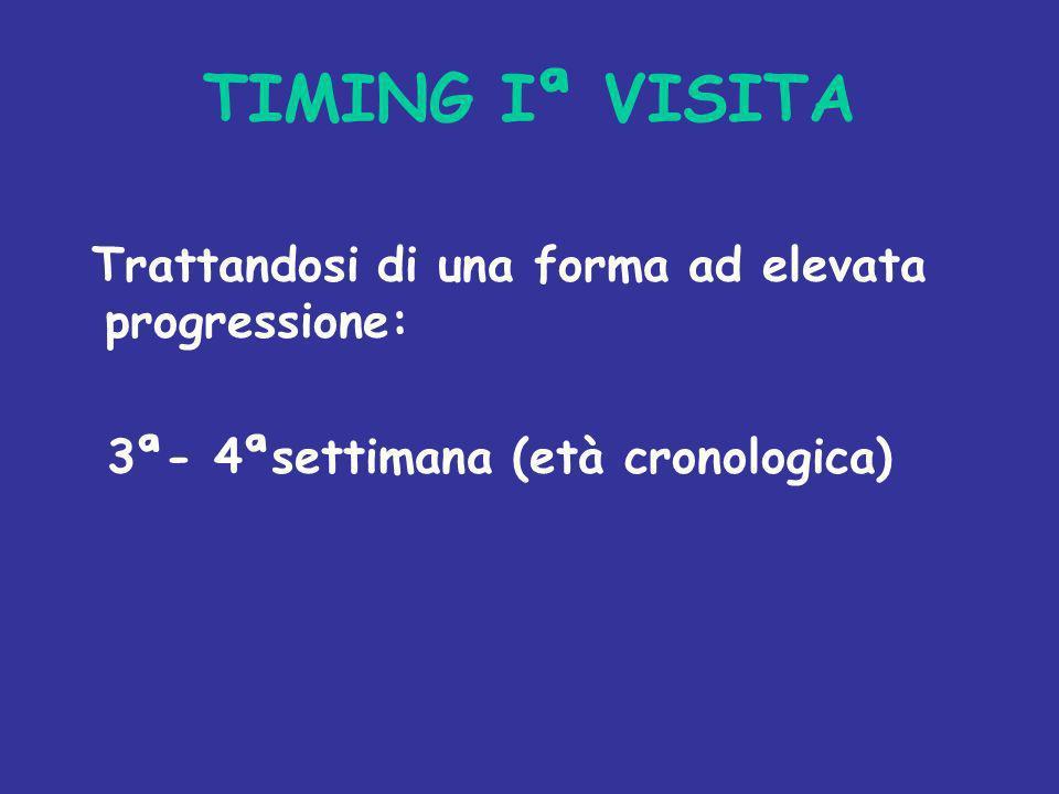 TIMING Iª VISITA Trattandosi di una forma ad elevata progressione: