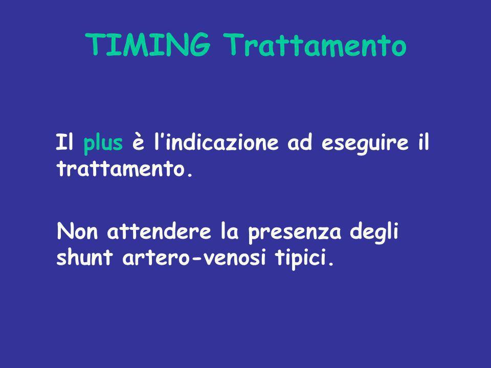 TIMING Trattamento Il plus è l'indicazione ad eseguire il trattamento.