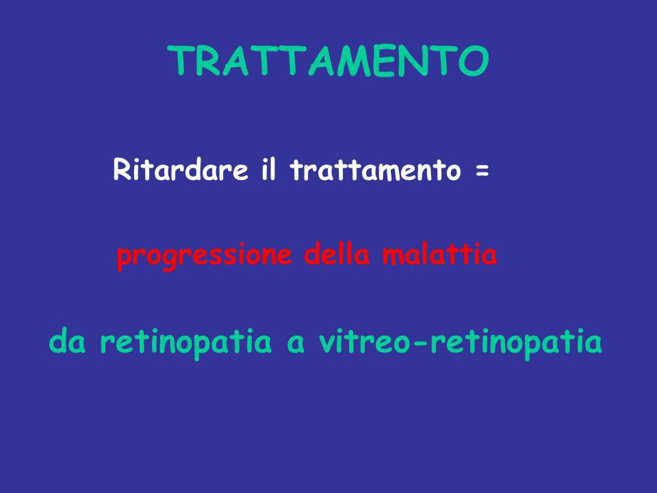 TRATTAMENTO Ritardare il trattamento = progressione della malattia