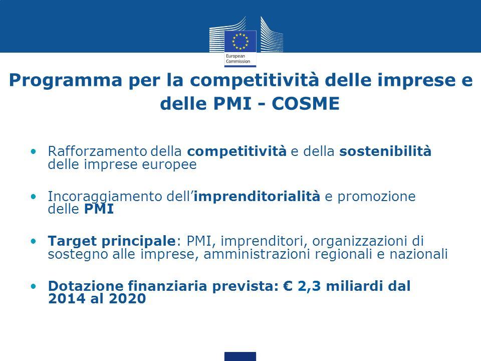 Programma per la competitività delle imprese e delle PMI - COSME