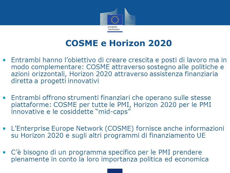 COSME e Horizon 2020