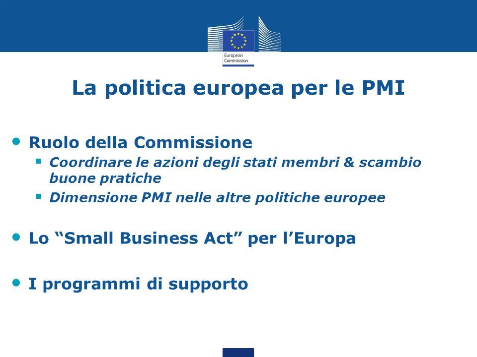 La politica europea per le PMI