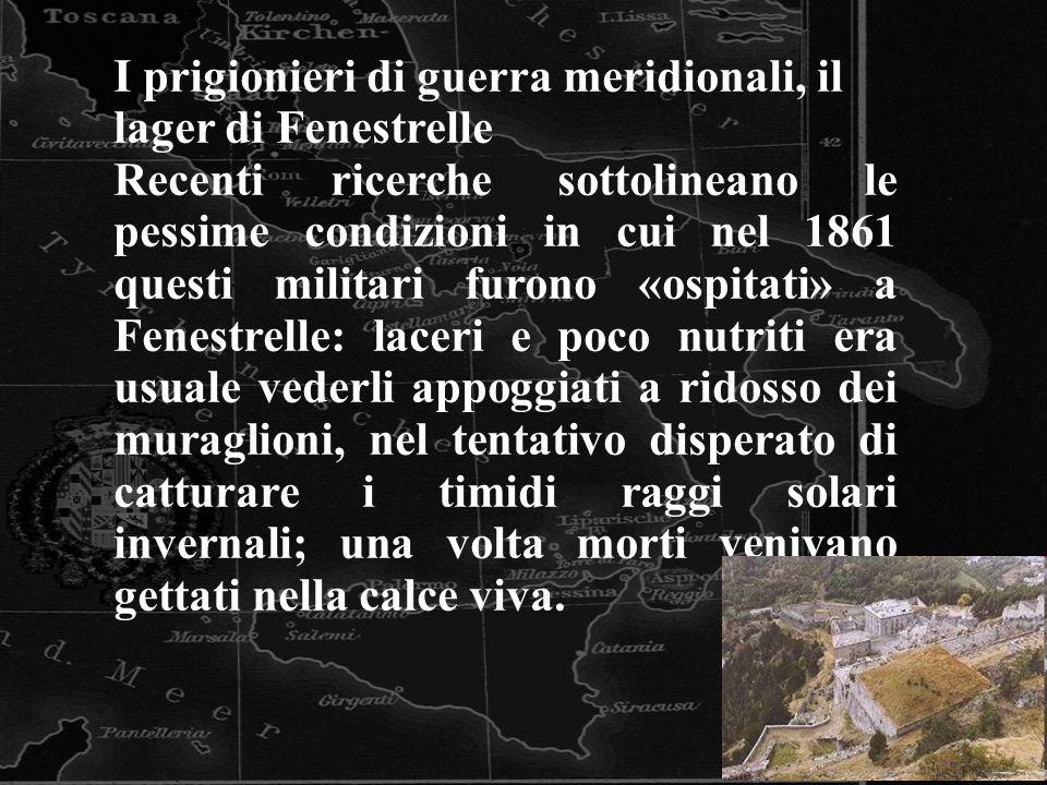 I prigionieri di guerra meridionali, il lager di Fenestrelle
