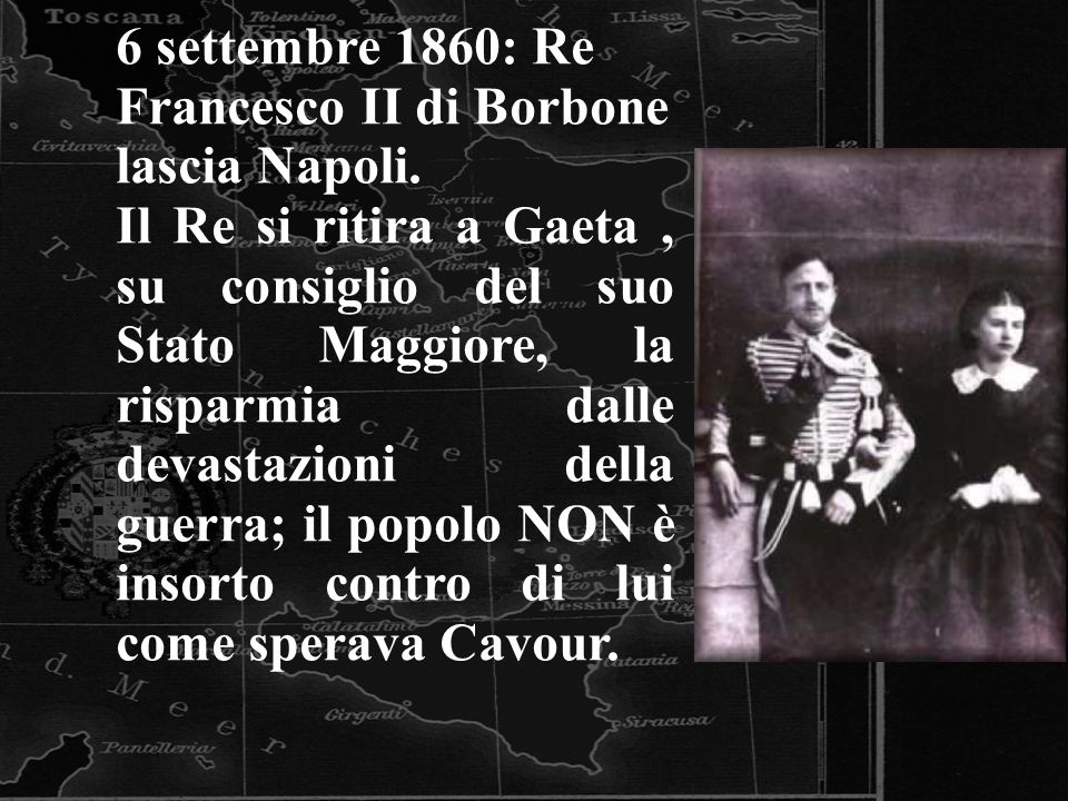 6 settembre 1860: Re Francesco II di Borbone lascia Napoli.