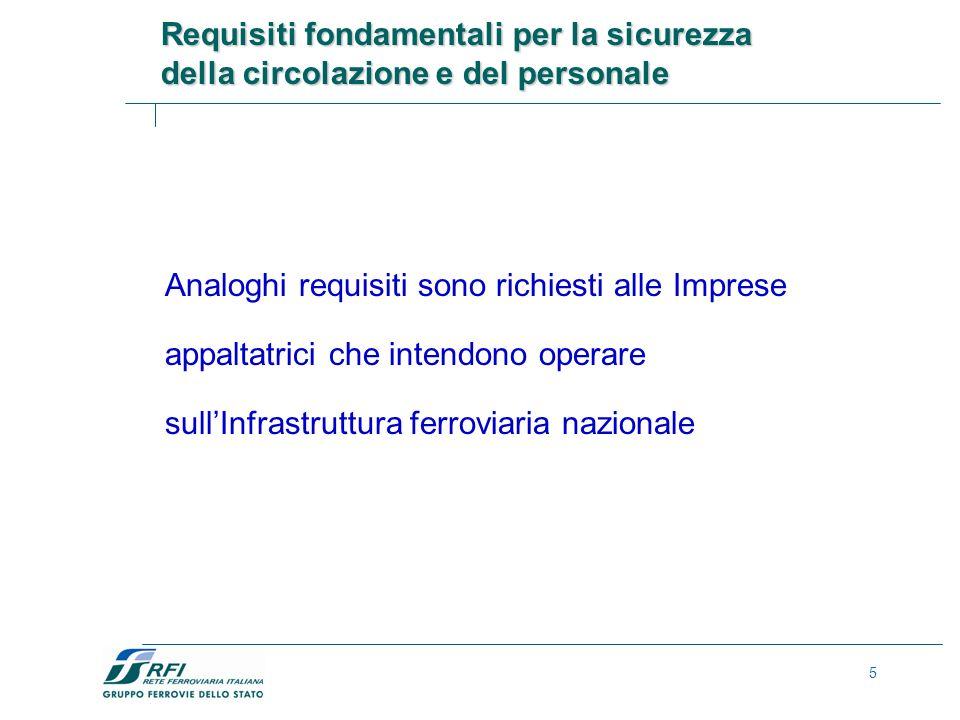 Requisiti fondamentali per la sicurezza della circolazione e del personale