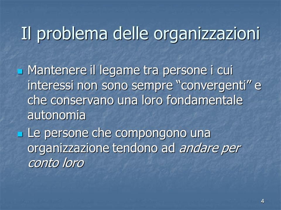 Il problema delle organizzazioni
