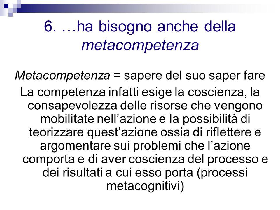 6. …ha bisogno anche della metacompetenza