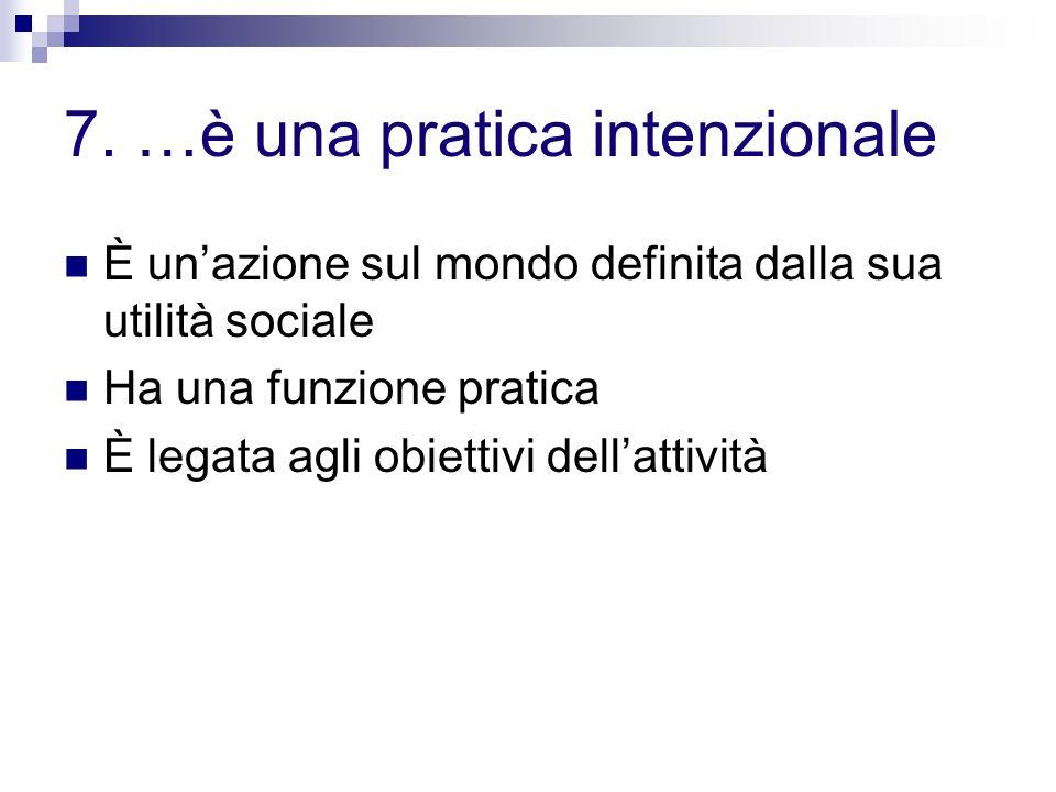 7. …è una pratica intenzionale