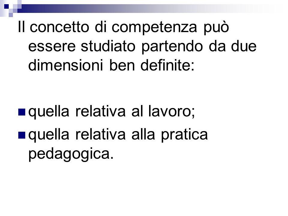 Il concetto di competenza può essere studiato partendo da due dimensioni ben definite: