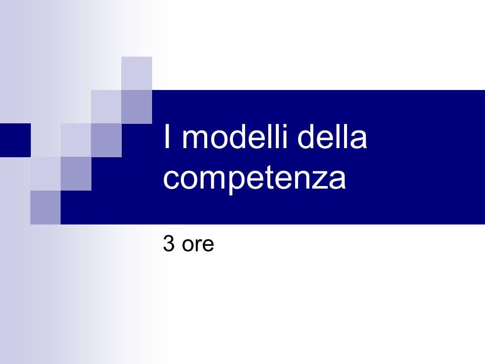 I modelli della competenza