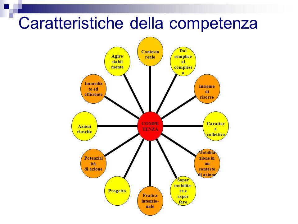 Caratteristiche della competenza