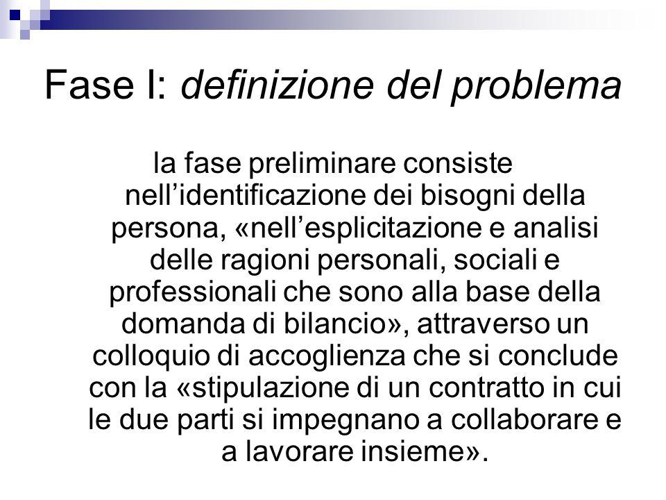 Fase I: definizione del problema