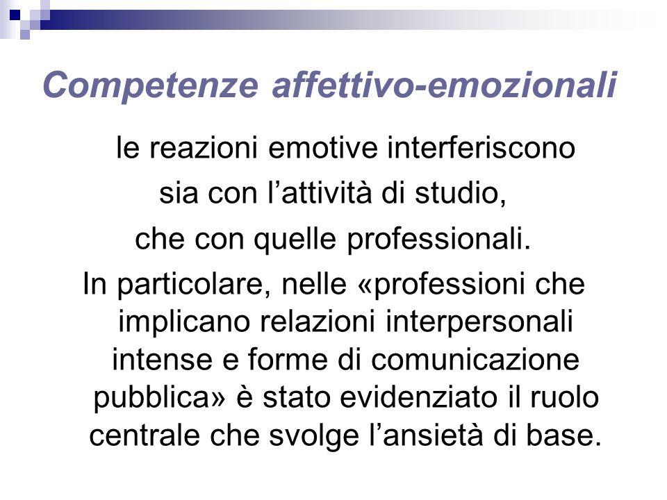 Competenze affettivo-emozionali