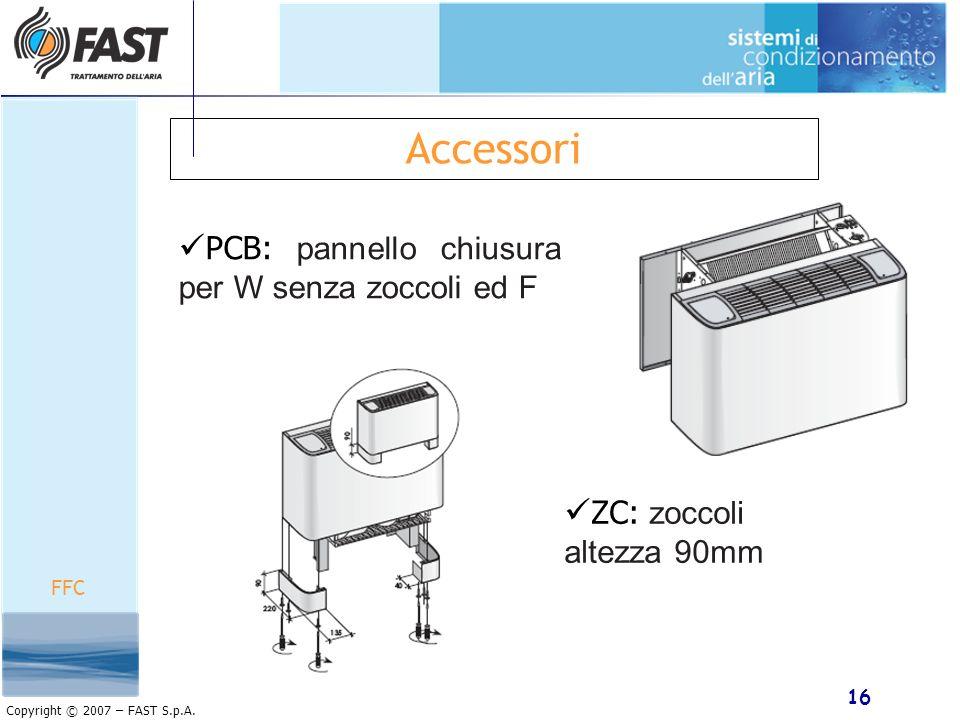 Accessori PCB: pannello chiusura per W senza zoccoli ed F