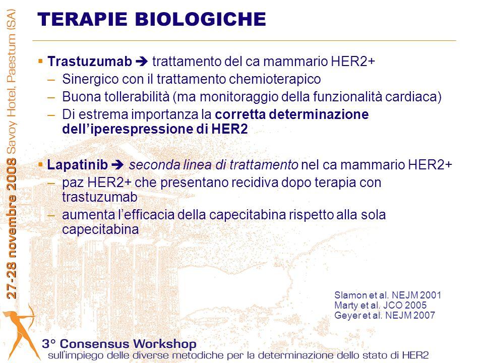 TERAPIE BIOLOGICHE Trastuzumab  trattamento del ca mammario HER2+