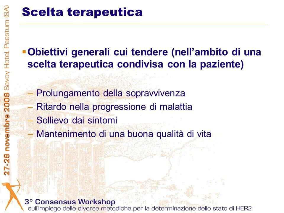 Scelta terapeutica Obiettivi generali cui tendere (nell'ambito di una scelta terapeutica condivisa con la paziente)