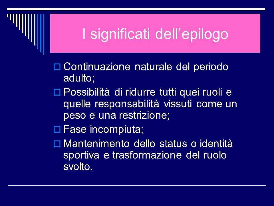 I significati dell'epilogo