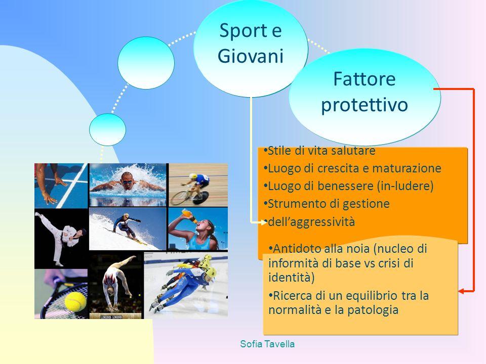 Sport e Giovani Fattore protettivo Stile di vita salutare