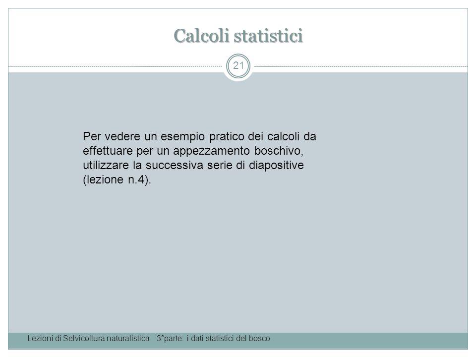 Calcoli statistici