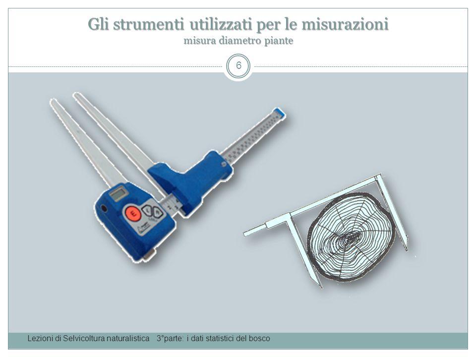 Gli strumenti utilizzati per le misurazioni misura diametro piante