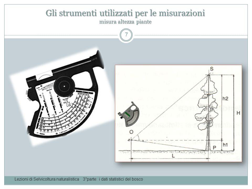 Gli strumenti utilizzati per le misurazioni misura altezza piante