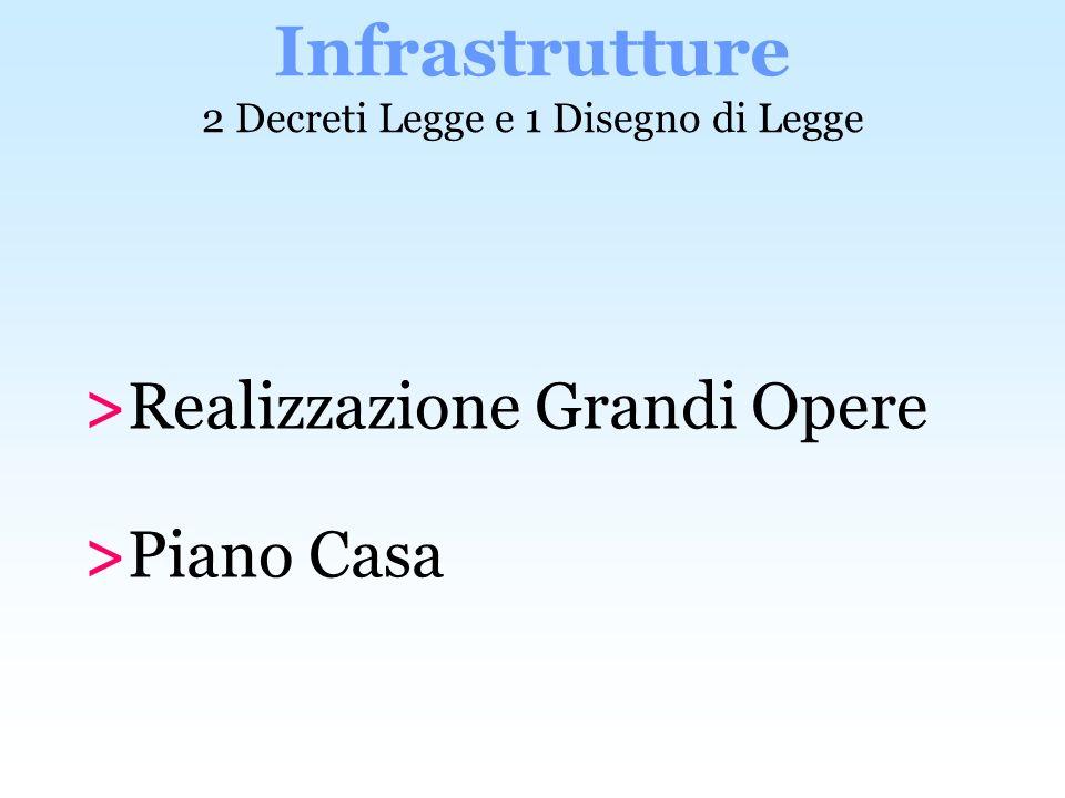 Infrastrutture 2 Decreti Legge e 1 Disegno di Legge