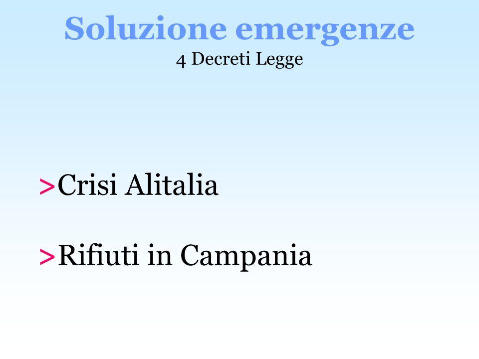 Soluzione emergenze 4 Decreti Legge