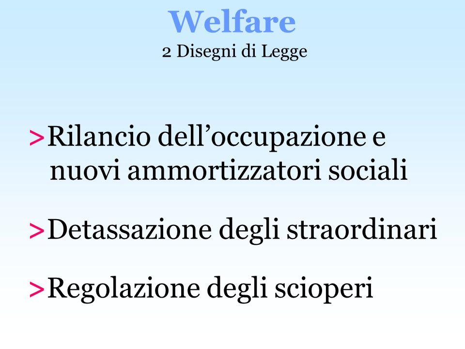 Welfare 2 Disegni di Legge