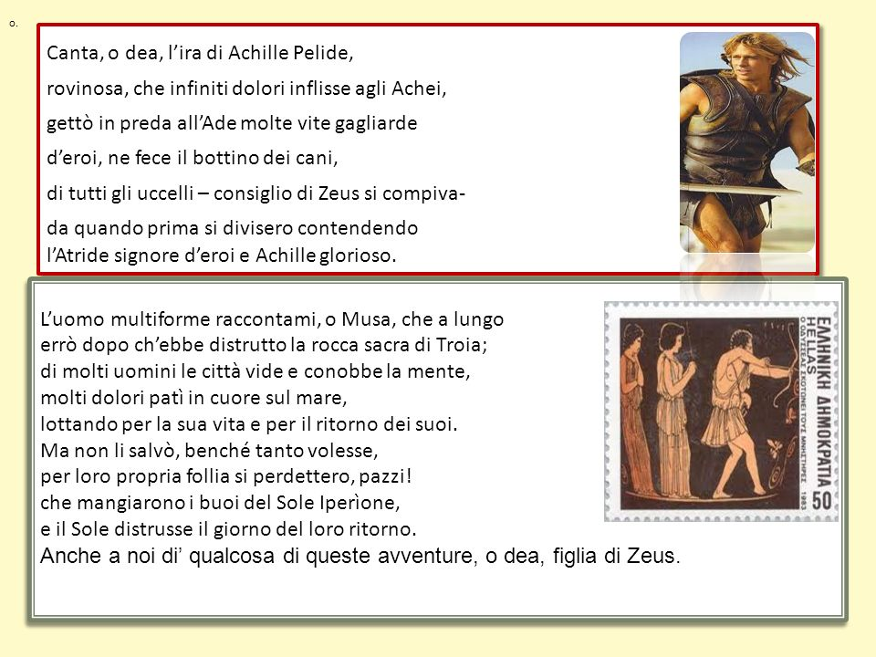 Canta, o dea, l'ira di Achille Pelide,