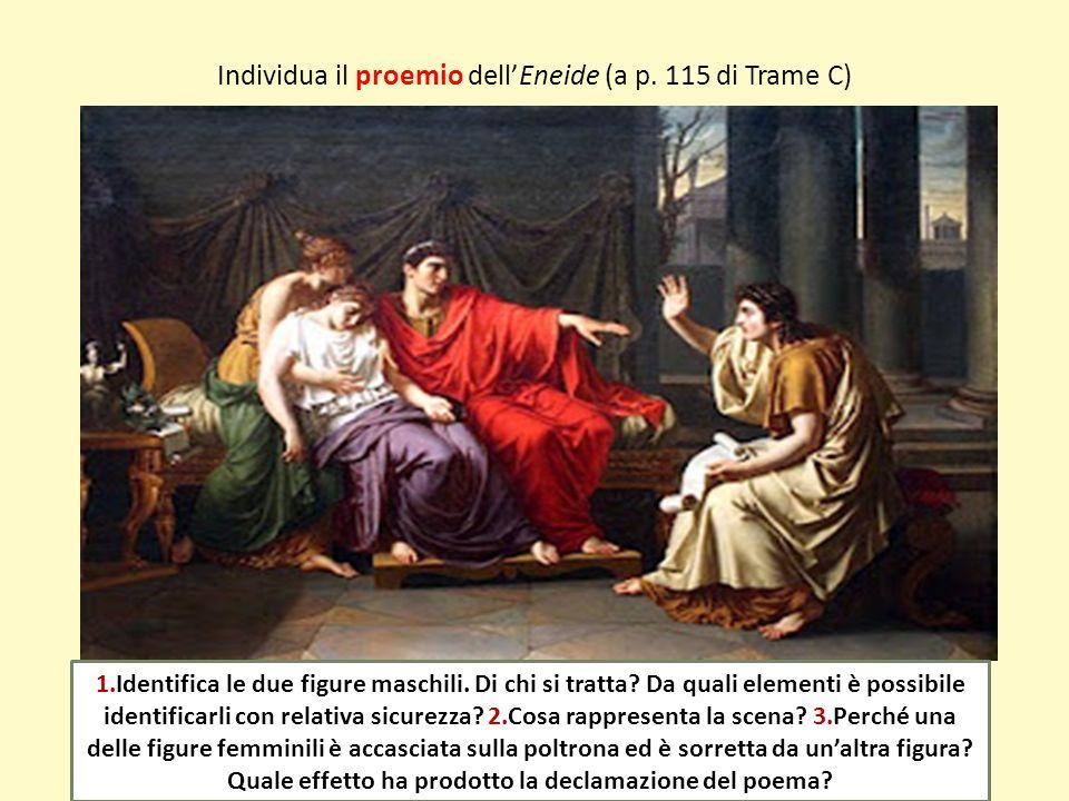 Individua il proemio dell'Eneide (a p. 115 di Trame C)