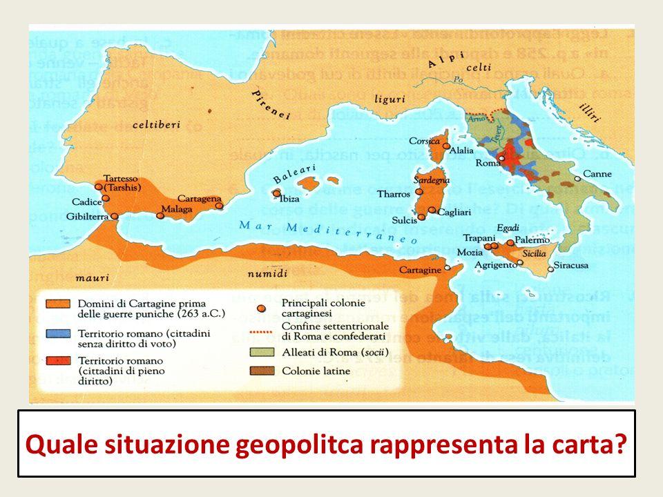 Quale situazione geopolitca rappresenta la carta