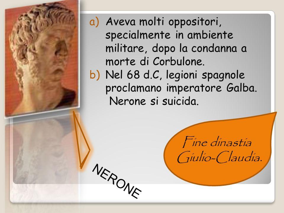 Fine dinastia Giulio-Claudia. NERONE