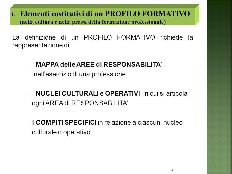 - MAPPA delle AREE di RESPONSABILITA'