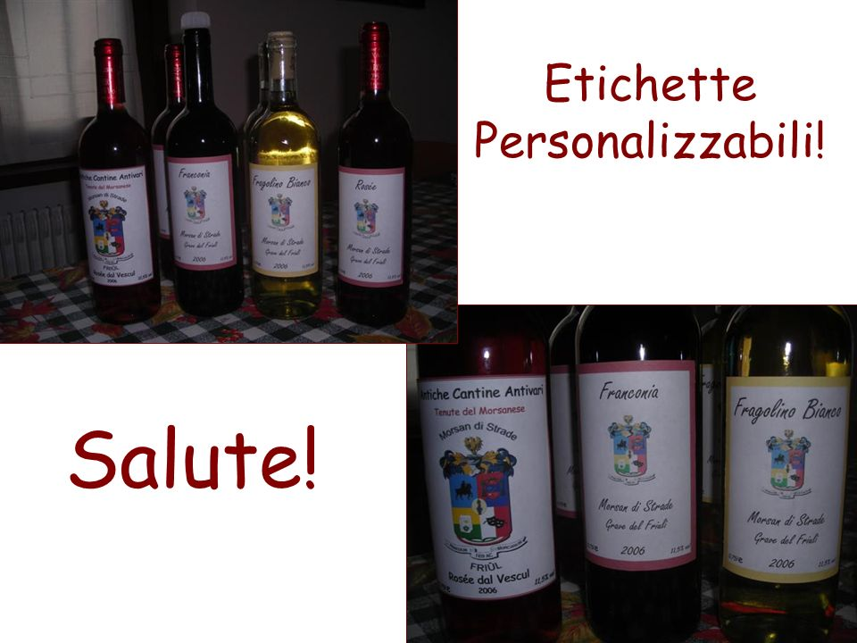 Etichette Personalizzabili!