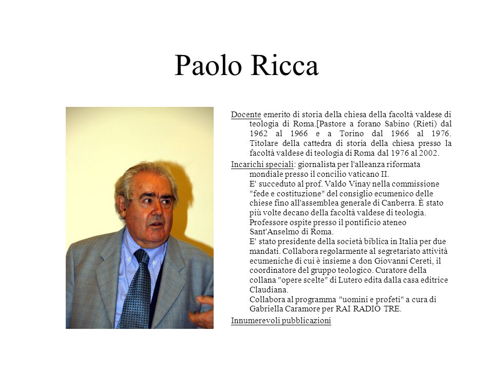Paolo Ricca