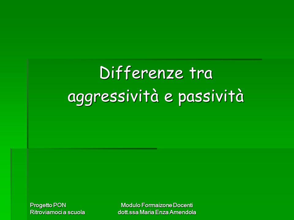 aggressività e passività