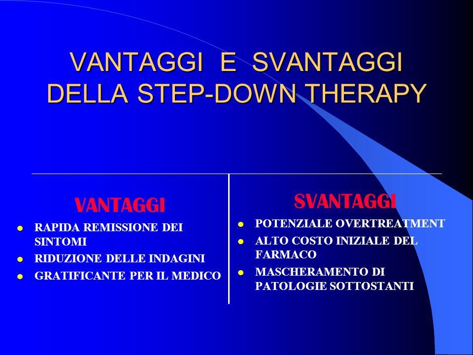 VANTAGGI E SVANTAGGI DELLA STEP-DOWN THERAPY