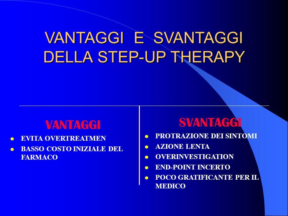 VANTAGGI E SVANTAGGI DELLA STEP-UP THERAPY
