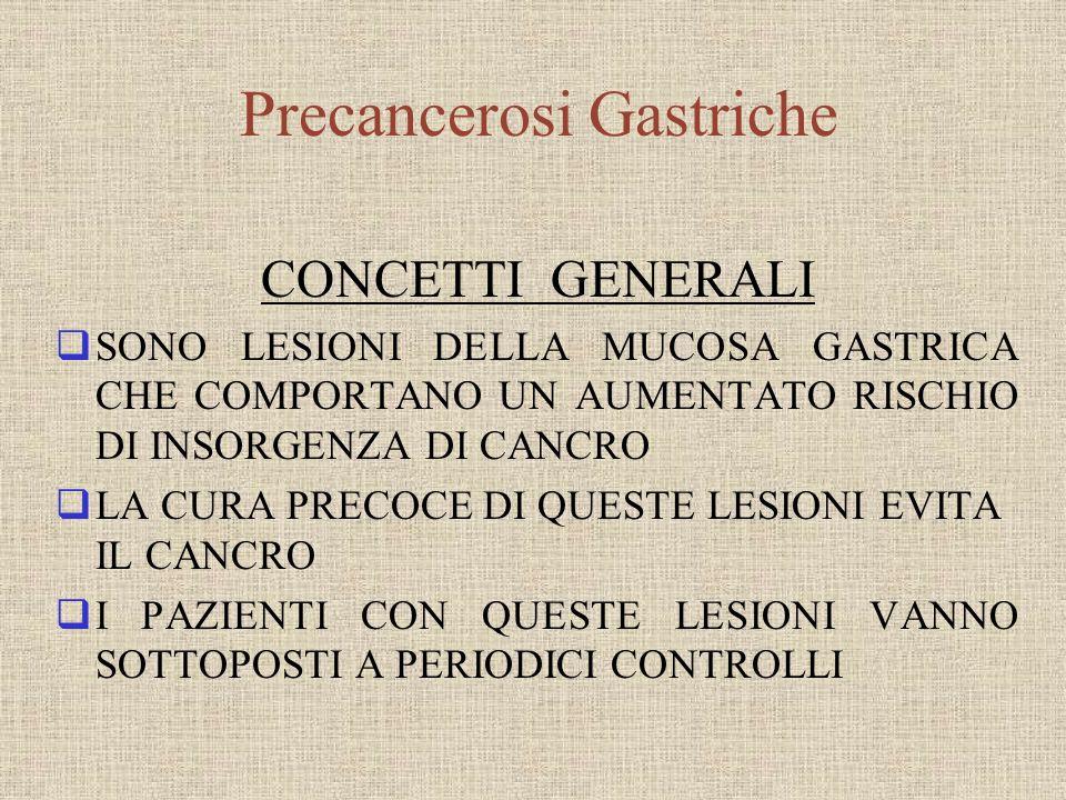 Precancerosi Gastriche