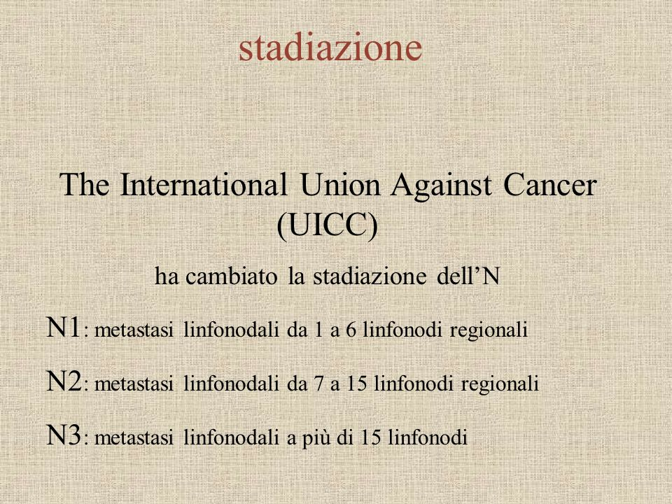 stadiazione The International Union Against Cancer (UICC)