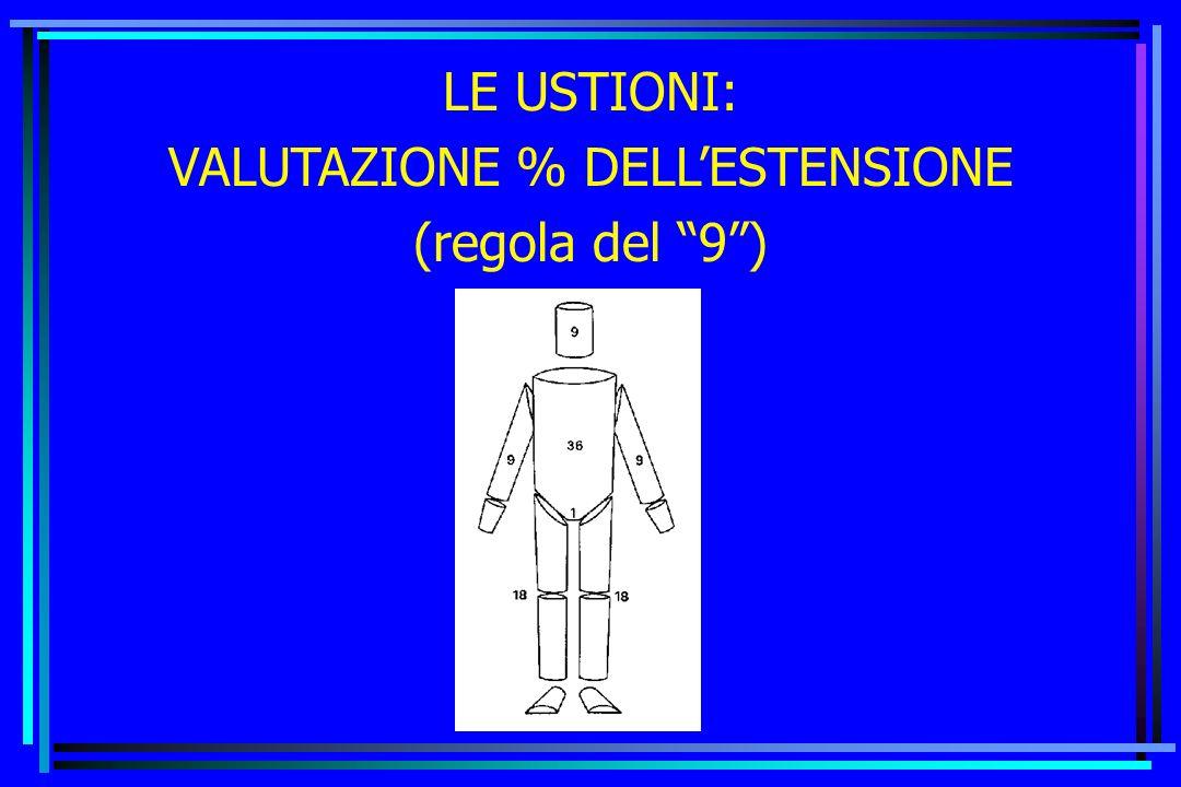 VALUTAZIONE % DELL'ESTENSIONE