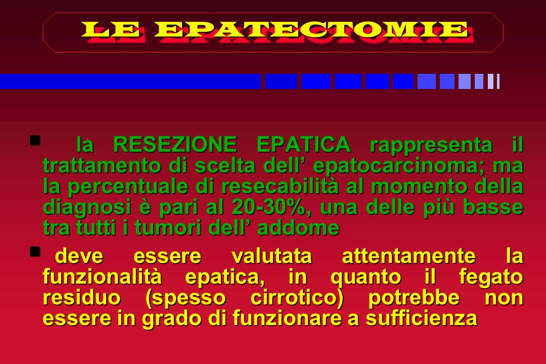 LE EPATECTOMIE