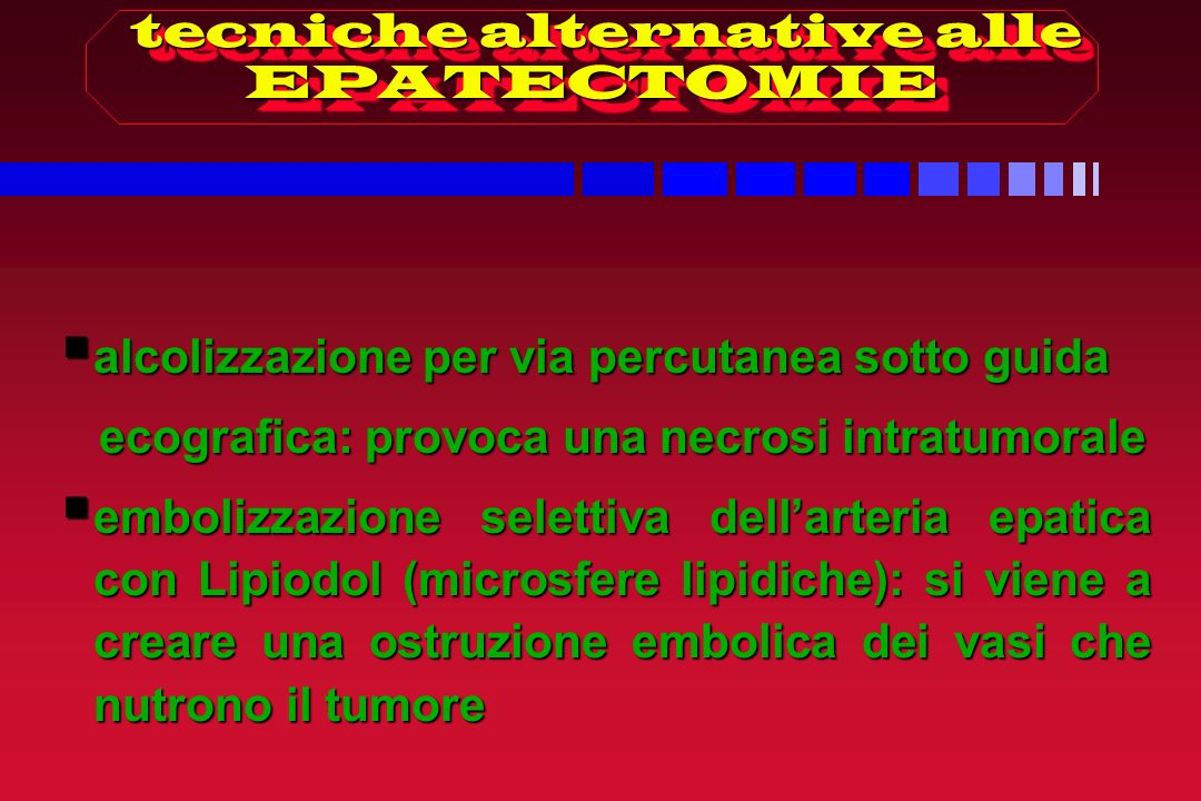 tecniche alternative alle EPATECTOMIE