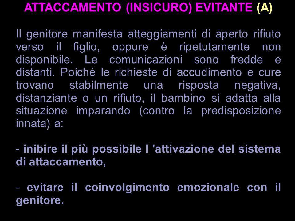 ATTACCAMENTO (INSICURO) EVITANTE (A)