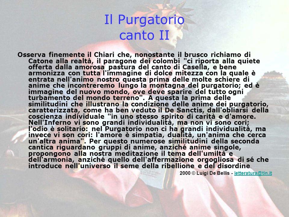 Il Purgatorio canto II
