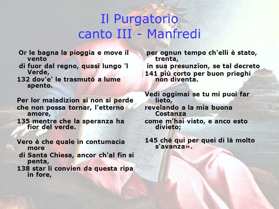 Il Purgatorio canto III - Manfredi