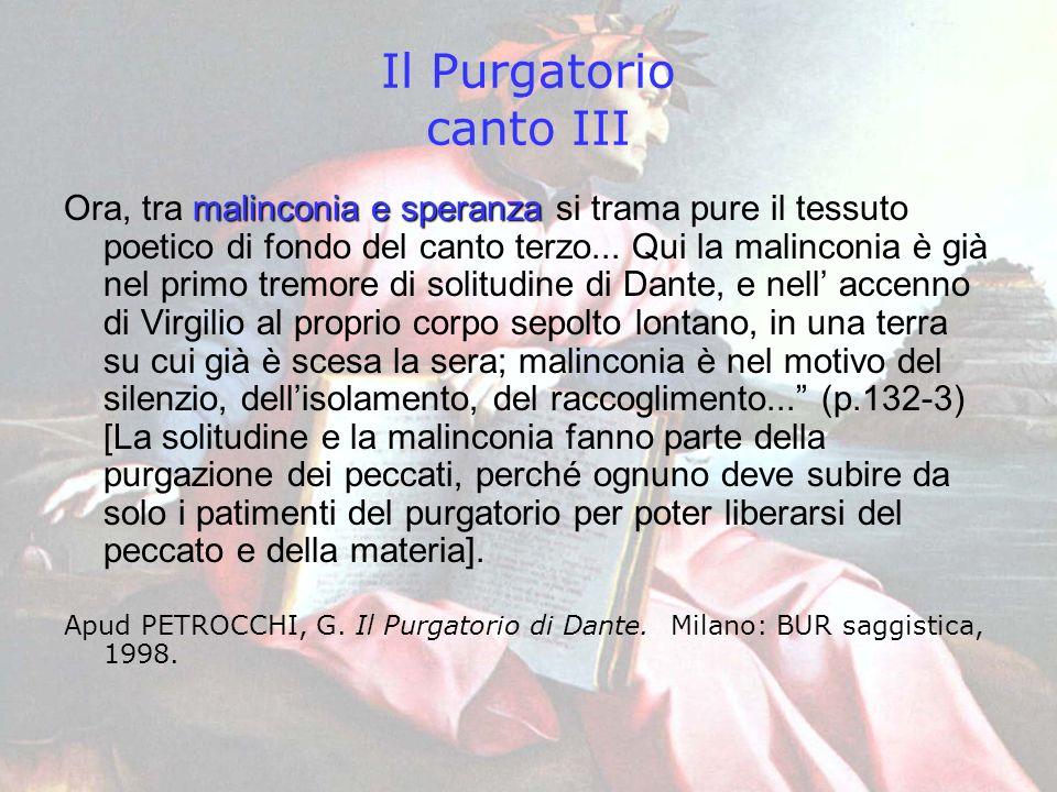 Il Purgatorio canto III